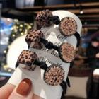 Cube & Rhinestone Disc Hair Tie