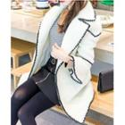 Piped Lapel Knit Coat
