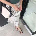 Slit-front Dotted Mermaid Skirt