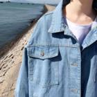 Oversize Washed Denim Jacket