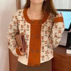Printed Buttoned Top