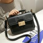 Contrast Stitching Shoulder Bag