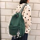 Retro Plain Backpack