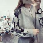 Camouflage Loose-fit Cardigan