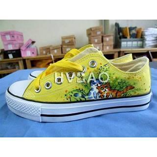 Happy Cats Canvas Sneakers