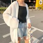 Long Chiffon Jacket White - One Size