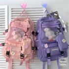 Buckled Paneled Backpack