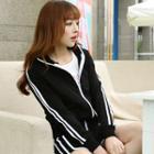 Striped Sport Zip Jacket