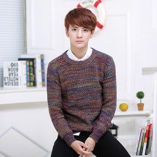 Long-sleeve Chunky Knit Basic Sweater