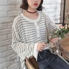 Striped Wide-leg Knit Top