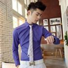 Long-sleeve Slim-fit Shirt