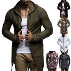 Plain / Camo Hooded Jacket