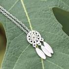 Sterling Silver Dreamcatcher Pendant Necklace