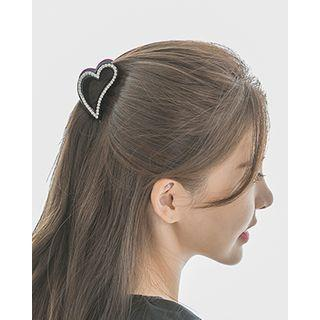 Rhinestone Heart Hair Claw One Size