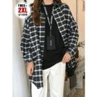 Long-sleeve Plaid Oversized Shirt