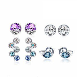 Set : Austrian Crystal Earrings
