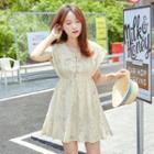 Lace Up-front Lace A-line Dress