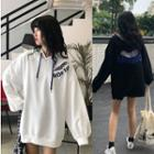 Cutout Letter Hoodie
