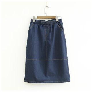 Panel Denim Skirt