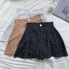 High-waist Dotted Shorts