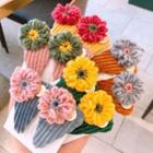 Set Of 2: Flower Knit Hair Clip