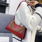 Chain Accent Shoulder Bag
