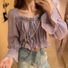 Bow Detail Blouse Purple - One Size