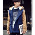 Hooded Color Block Coat