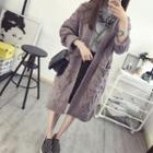 Open Front Cable Knit Long Cardigan
