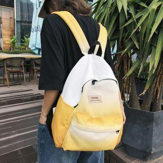 Lettering Patch Canvas Backpack
