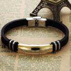 Titanium Steel Silicone Bracelet