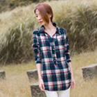 Rolled Sleeve Plaid Shirt