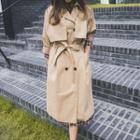Double-button Flap Trench Coat