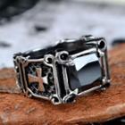 Jewelled Cross Pattern Ring