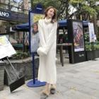 Turtleneck Knit Maxi Dress