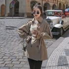 Long-sleeve Bow-accent Coat