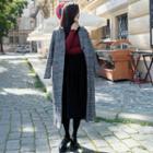 Lapel Plaid Woolen Coat