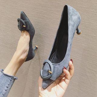 Kitten-heel Pointed Flats