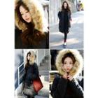 Detachable Faux-fur Hooded Long Padded Coat