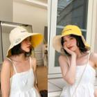Embroidered Wide Brim Sun Hat