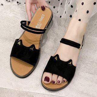 Cat Ear Flat Sandals