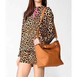 Wrapped Handle Faux Leather Tote Camel - One Size
