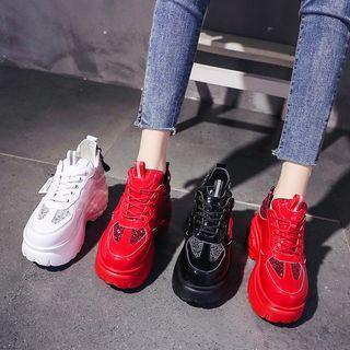 Glitter Platform Chunky Sneakers