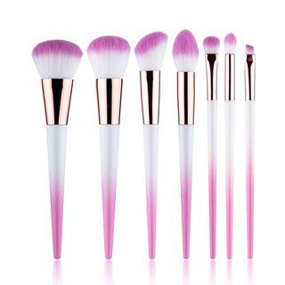 Set Of 7: Makeup Brush Set Of 7: Gradient Pink - One Size