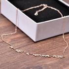 Lettering Necklace Necklace - Lettering - Rose Gold - One Size