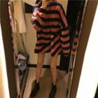 Stripe Boxy Hoodie As Shown In Figure - One Size