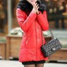 Faux Fur Collared Padded Coat