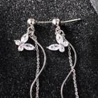 925 Sterling Silver Butterfly Earrings Butterfly Earrings - One Size