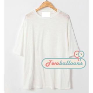 Elbow-sleeve Slit-side T-shirt