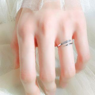 925 Sterling Silver Open Ring 1 Pc - Ring - One Size